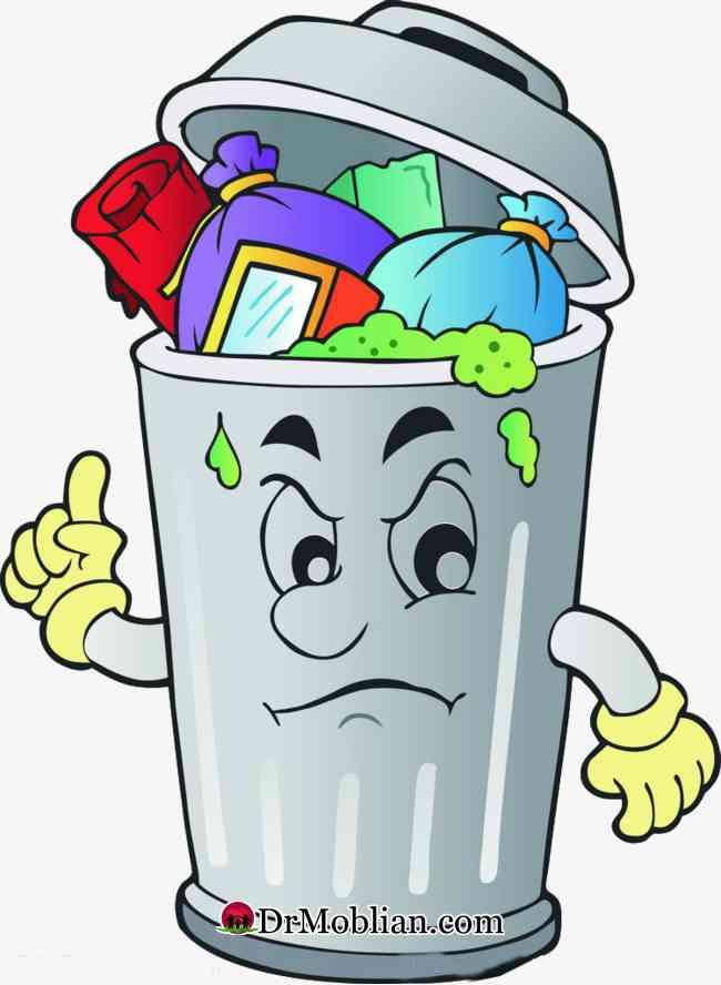 سطل زباله ات را زمین بگذار